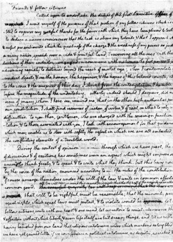"""thomas jefferson second inaugural address 1 grade 11 literary nonfiction mini-assessment """"thomas jefferson's inaugural address (1801)"""" this grade 11 mini-assessment is based on an excerpt (527 words) from thomas jefferson's inaugural."""