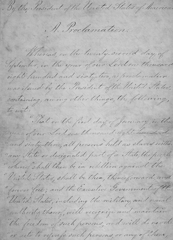 an analysis of the impact of the emancipation proclamation by abraham lincoln in the united states First reading of the emancipation proclamation of president lincoln is an 1864  oil-on-canvas painting by francis bicknell carpenter in the painting, carpenter  depicts abraham lincoln, the 16th president of the united states,  1862, and  issued the proclamation on september 22, 1862, which took effect on january 1, .