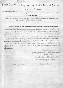 Image for: Thirteenth Amendment to the U.S. Constitution