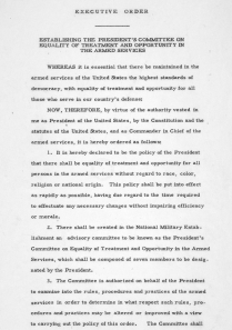 Image for: Executive Order 9981: Desegregation of the Armed Forces